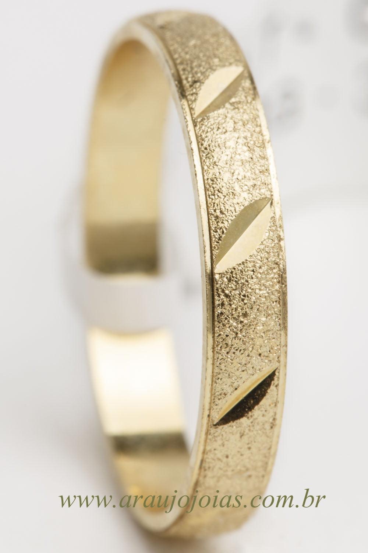 Aliança de casamento em ouro 18K 750 Latitude