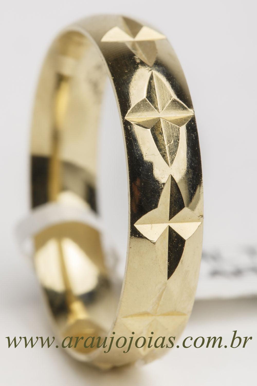 Aliança de casamento em ouro 18K 750 Rota