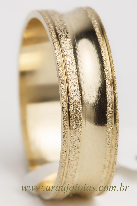 Aliança de casamento em ouro 18K 750 Sublime