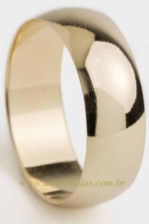 Aliança de casamento em ouro 18K 750 Roma