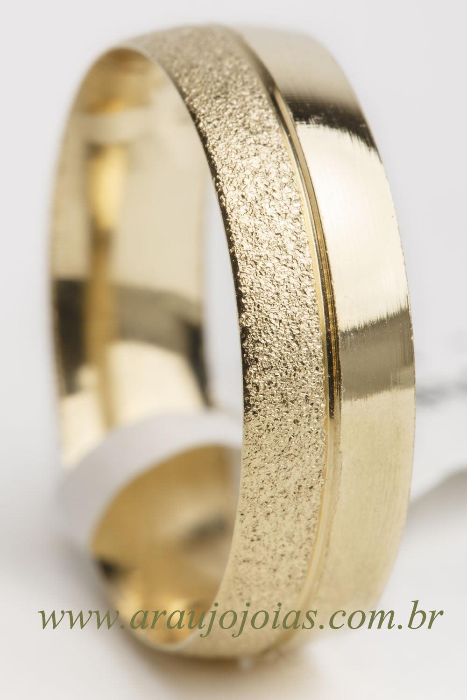 Aliança de casamento em ouro 18K 750 Sintonia