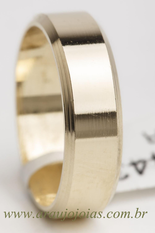 Aliança de casamento em ouro 18K 750 Atena