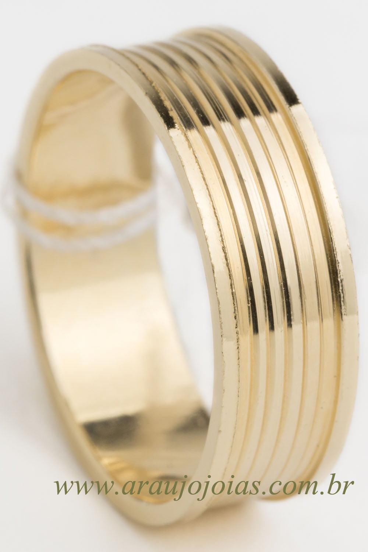 Aliança de casamento em ouro 18K 750 Primavera