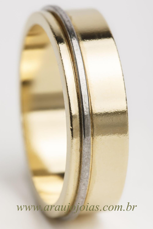 Aliança de casamento em ouro 18K 750 Sedução