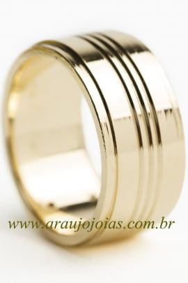 Aliança de casamento em ouro 18K 750 Passione