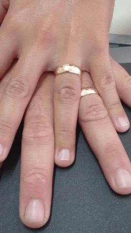 Aliança de casamento em ouro 18K 750  Amor Infinito Valor Unotário