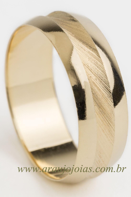 Aliança de casamento em ouro 18K 750 Elo de Amor.